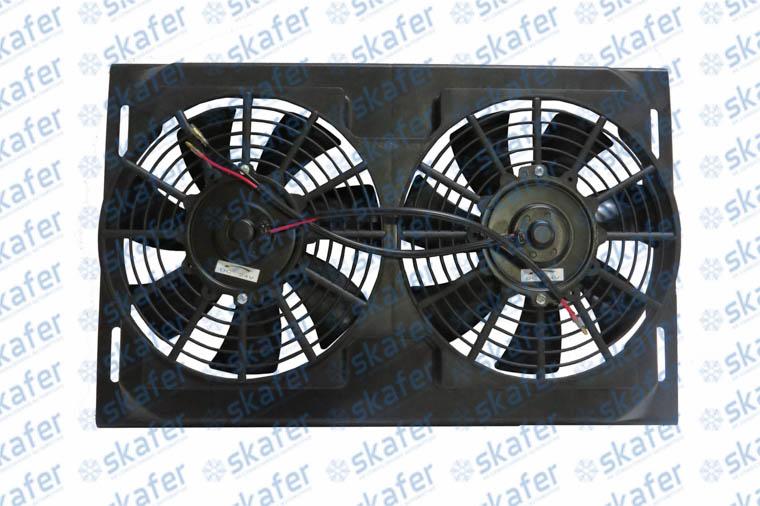 Conjunto Eletroventilador Duplo 10 Polegadas 24V