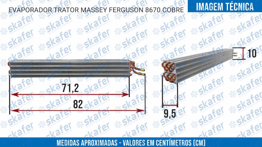 imagem de EVAPORADOR TRATOR MASSEY FERGUSON 8670 COBRE 4292687M91 4388820M91 SKAFER