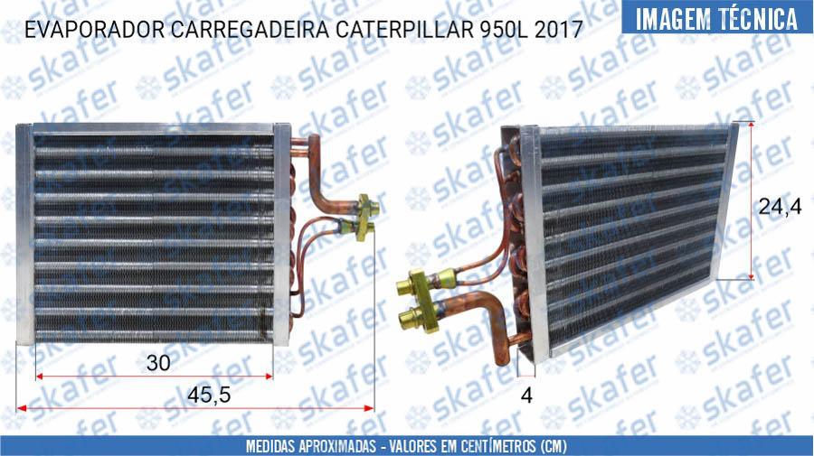 imagem de EVAPORADOR CATERPILLAR CARREGADEIRA 950L 2017 SKAFER