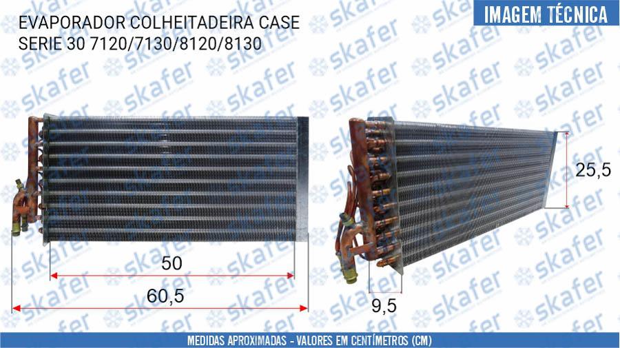 imagem de EVAPORADOR CASE COLHEITADEIRA SERIE 30 7120 7130 8120 8130