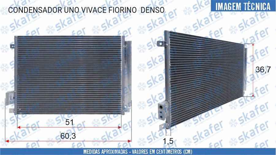 imagem de CONDENSADOR UNO VIVACE FIORINO 10770/1392 ORIGINAL DENSO