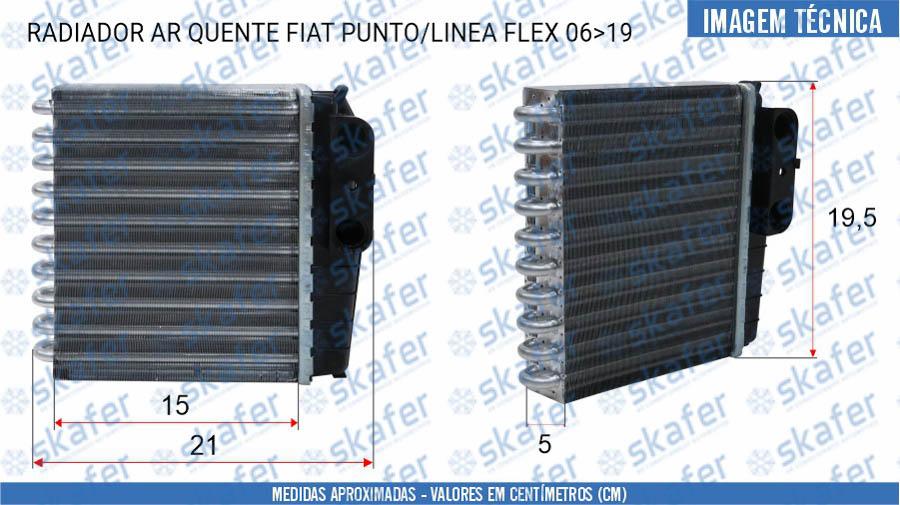 imagem de RADIADOR AR QUENTE FIAT PUNTO LINEA FLEX 2006 ATÉ 2019 MD116130-1750 ORIGINAL DENSO