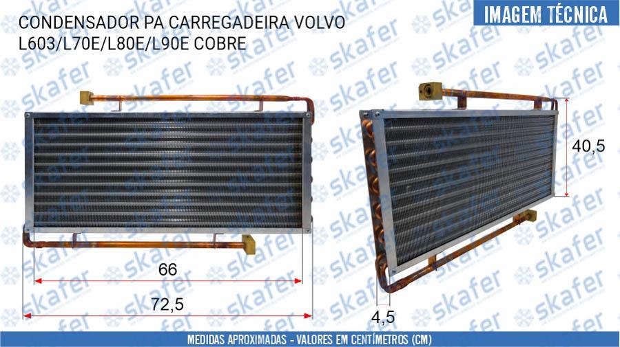 imagem de CONDENSADOR VOLVO PA CARREGADEIRA L603 L70E L80E L90E 11006435 COBRE SKAFER