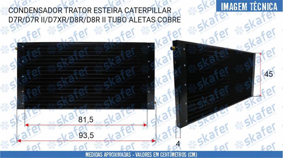 imagem de CONDENSADOR CATERPILLAR TRATOR ESTEIRA D7R D7R II D7XR D8R D8R II TUBO ALETAS COBRE 8N7486 SKAFER