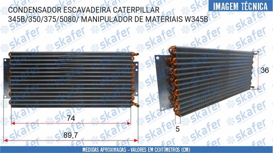 imagem de CONDENSADOR CATERPILLAR  ESCAVADEIRA 345B 350 375 5080 MANIPULADOR DE MATERIAIS W345B COBRE 1406161 SKAFER