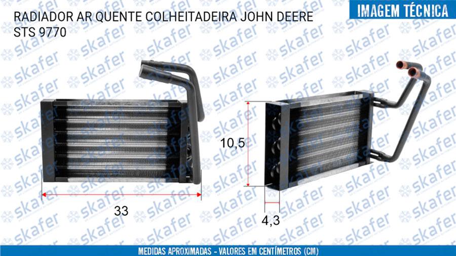 imagem de RADIADOR AR QUENTE COLHEITADEIRA JOHN DEERE STS 9770 SKAFER
