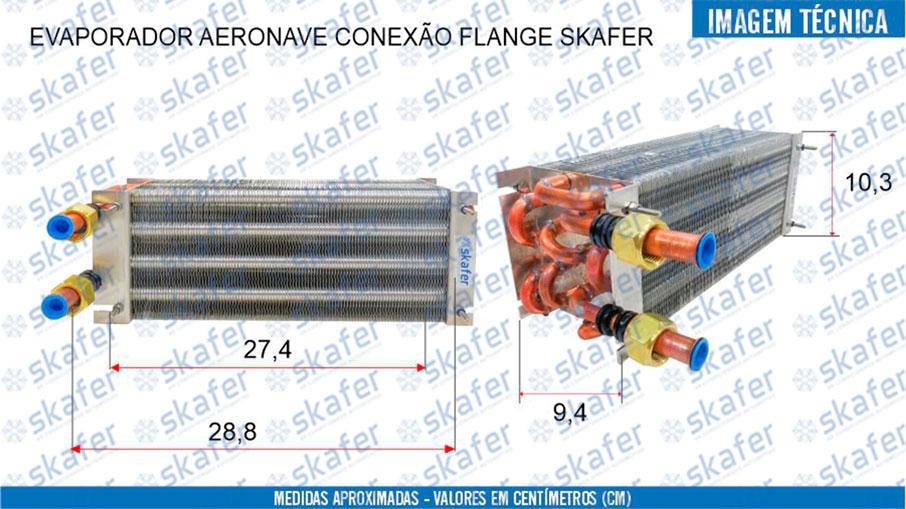 imagem de EVAPORADOR AERONAVE CONEXÃO FLANGE SKAFER