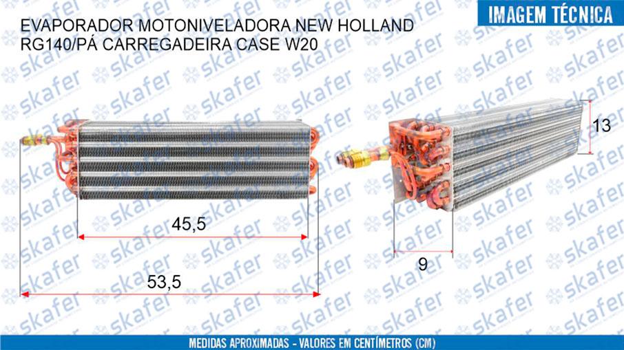 imagem de EVAPORADOR MOTONIVELADORA NEW HOLLAND RG140 PÁ CARREGADEIRA CASE W20