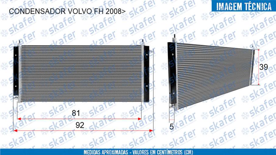 imagem de CONDENSADOR VOLVO FH 2008 EM DIANTE ADAPTAÇÃO