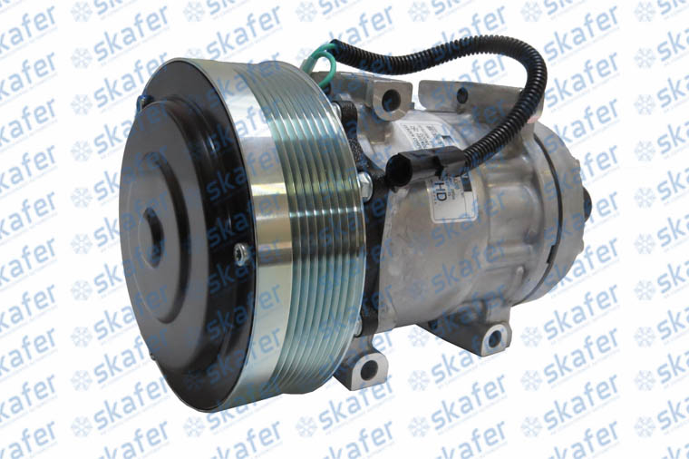 COMPRESSOR CASE NEW HOLLAND PÁ CARREGADEIRA W130 621D 1835106 17004300A SANDEN