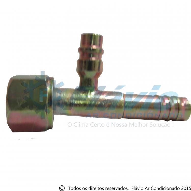 Conexão 10MM Reta Femea Aço V. R134a