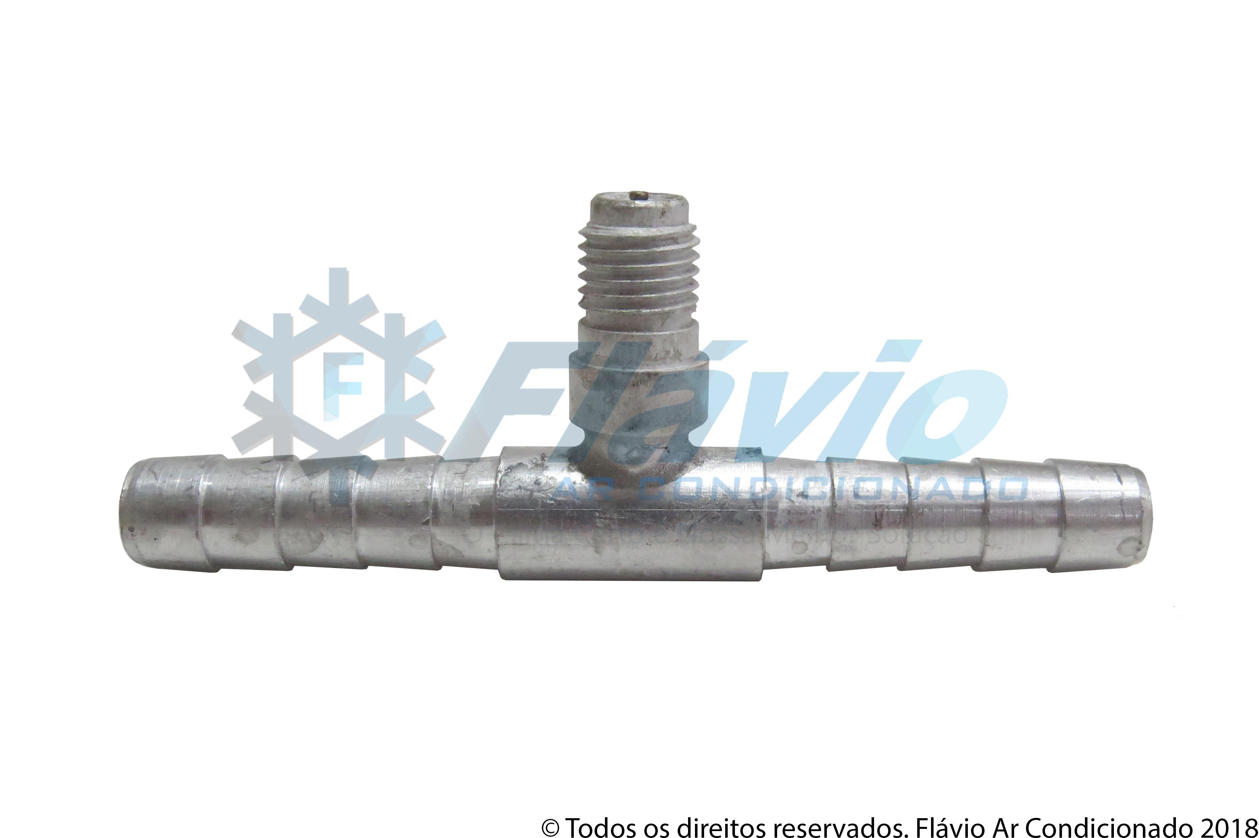 EMENDA 8MM ALUMINIO COM VALVULA R12