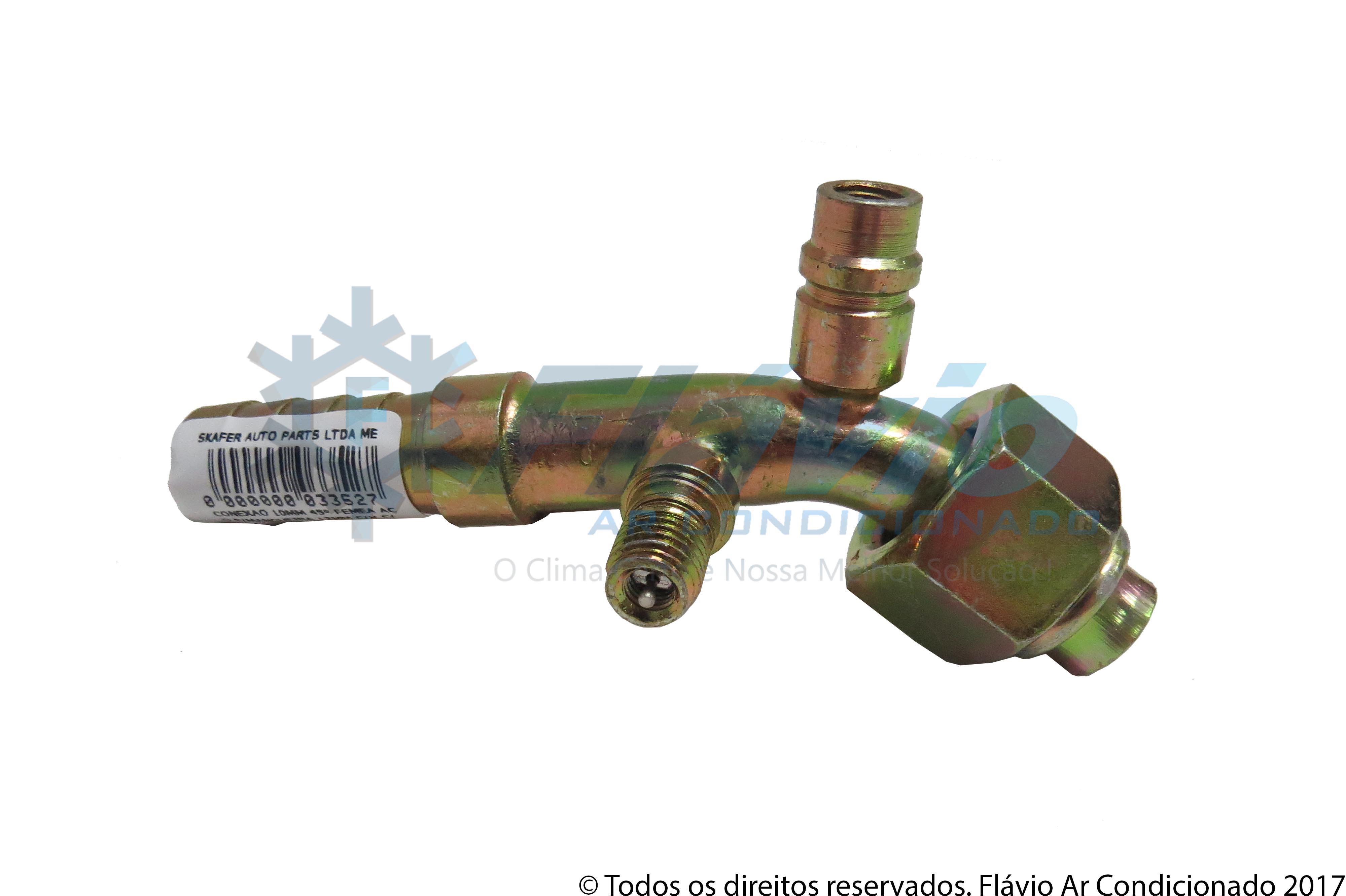 CONEXAO 10MM 45° FEMEA ACO PARA MANGUEIRA 12MM COM VALVULA COM ENGATE CASE 8800