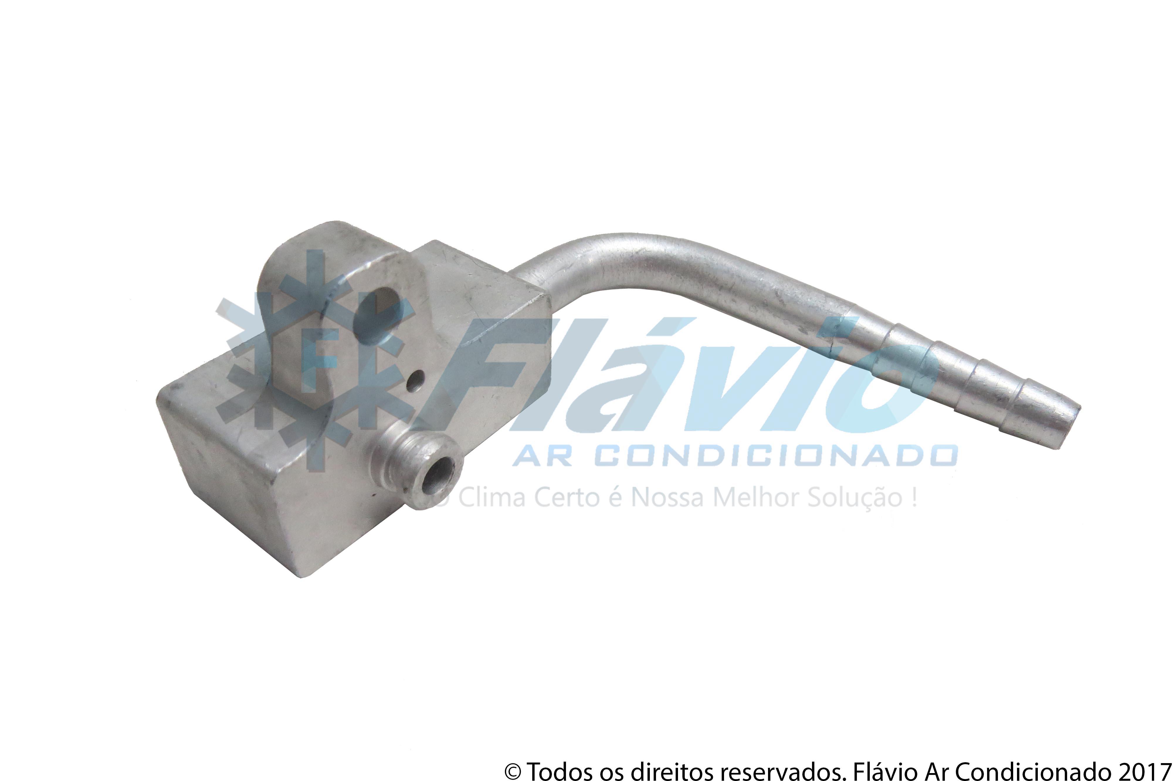 CONEXAO BLOCK FITTING 6MM 90º ALUMINIO COM ENTRADA PRESSOSTATO