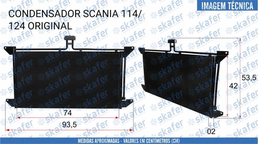 imagem de CONDENSADOR SCANIA CAMINHAO 114 124