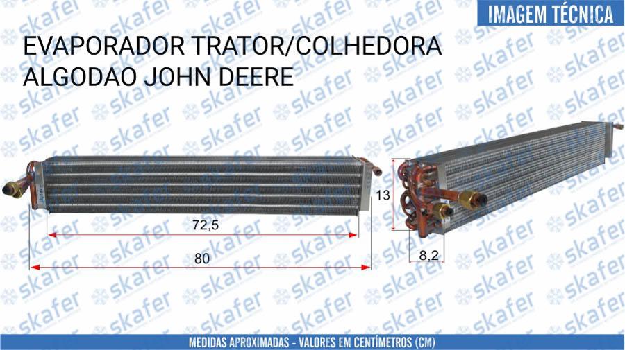 imagem de EVAPORADOR JOHN DEERE TRATOR COLHEITADEIRA DE ALGODÃO 5036 9910AR88076 RE52265 AR85245 SKAFER