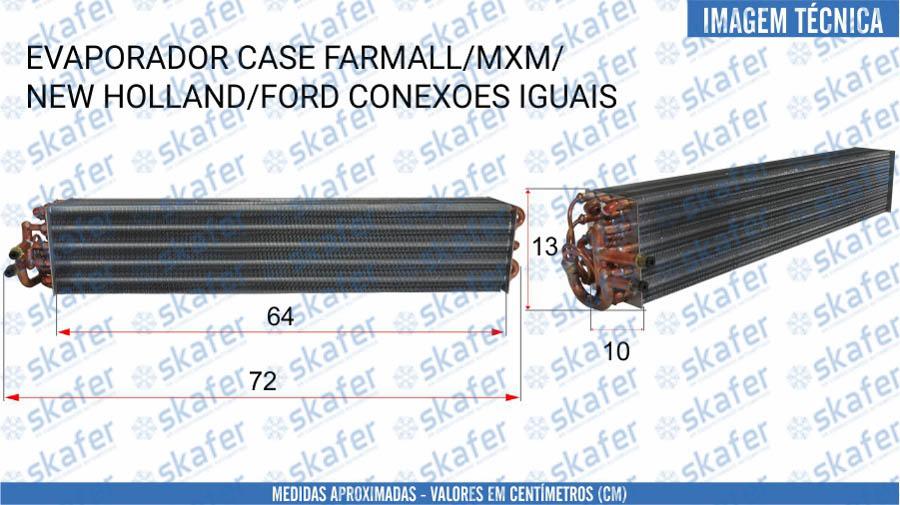 imagem de EVAPORADOR CNH CASE NEW HOLLAND FORD TRATOR FARMALL MAXXUM SÉRIE TS TD TM 82034855 82009238 SKAFER