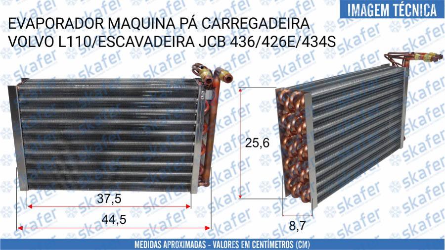 imagem de EVAPORADOR VOLVO JCB PA CARREGADEIRA ESCAVADEIRA L110 436 426E 434S30/926446 SKAFER