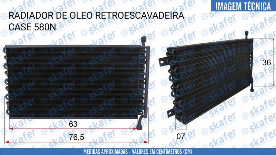 imagem de RADIADOR DE ÓLEO CASE RETROESCAVADEIRA 580N SKAFER