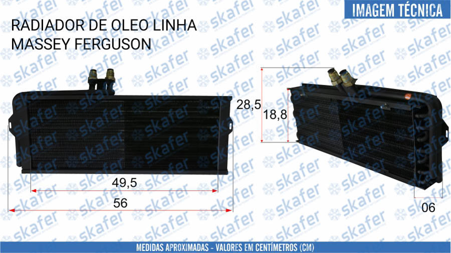 imagem de RADIADOR DE ÓLEO MASSEY FERGUSON 3780458M1 3780458M1 3780458 SKAFER