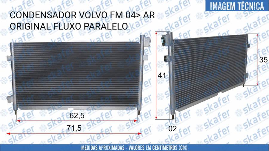 imagem de CONDENSADOR VOLVO CAMINHAO FM 2004 EM DIANTE 20838903 21086304