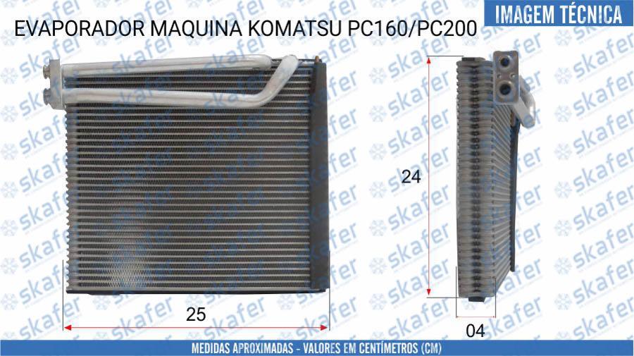 imagem de EVAPORADOR KOMATSU ESCAVADEIRA PC160 PC200