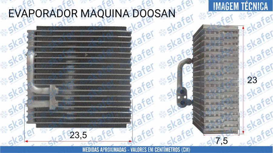 imagem de EVAPORADOR DOOSAN MÁQUINA DE CONSTRUÇÃO
