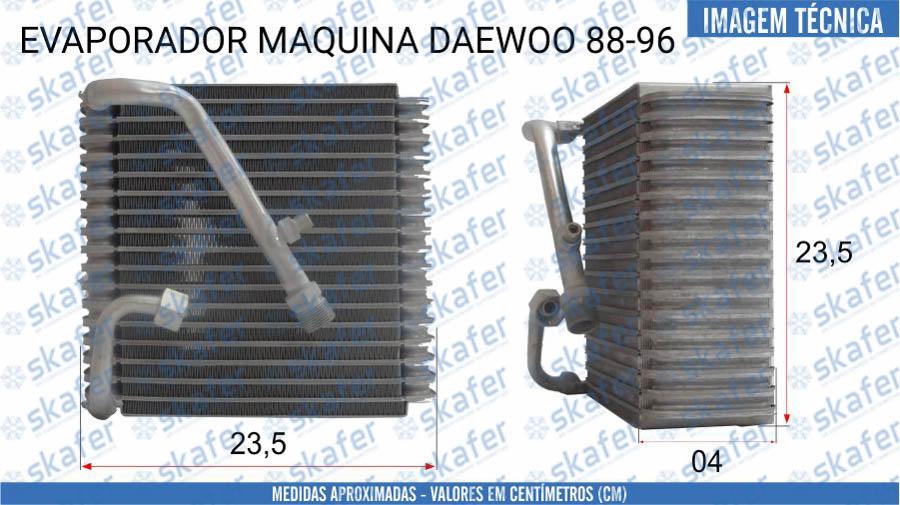 imagem de EVAPORADOR DAEWOO MÁQUINA DE CONSTRUÇÃO 1988 1996