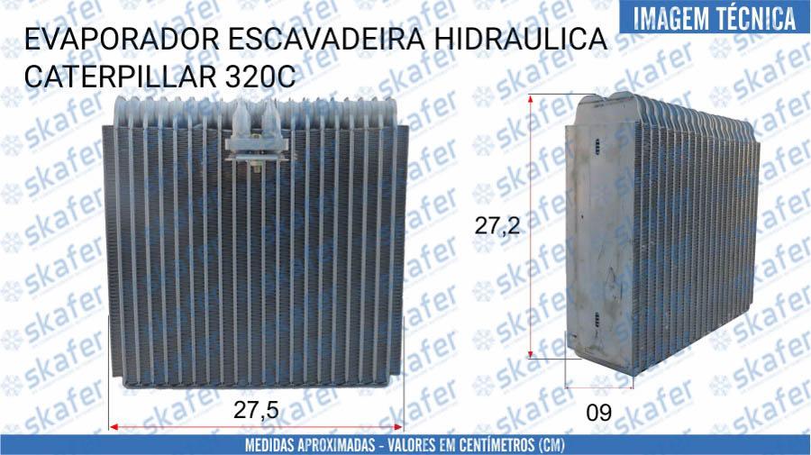 imagem de EVAPORADOR CATERPILLAR ESCAVADEIRA HIDRAULICA 320C 147-4812 178-5526