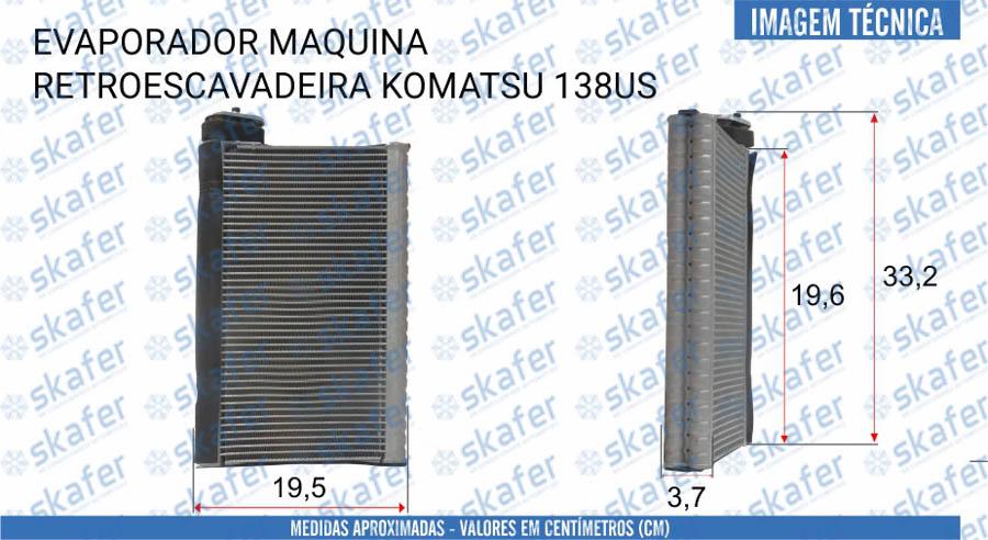 imagem de EVAPORADOR KOMATSU SANY RETROESCAVADEIRA GUINDASTE 138US 75TON