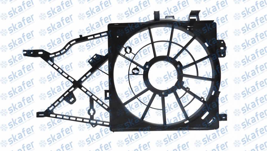DEFLETOR DO ELETRO RADIADOR GM CHEVROLET VECTRA 1996 EM DIANTE 2.0 2.2