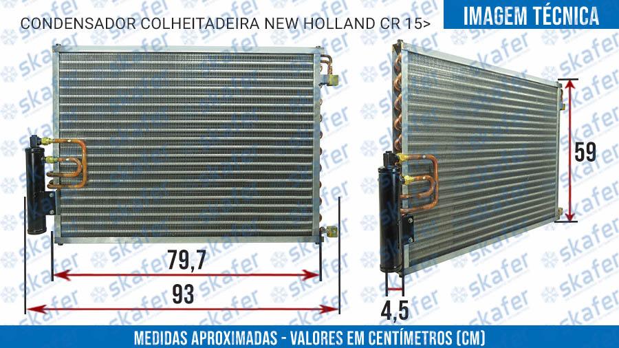 imagem de CONDENSADOR NEW HOLLAND COLHEITADEIRA CR890 TC5070 5090 CASE COLHEDORA 8810 2017 EM DIANTE SKAFER