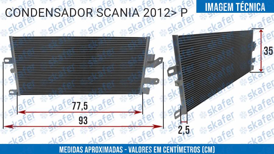 imagem de CONDENSADOR SCANIA CAMINHÃO 2012 EM DIANTE  P