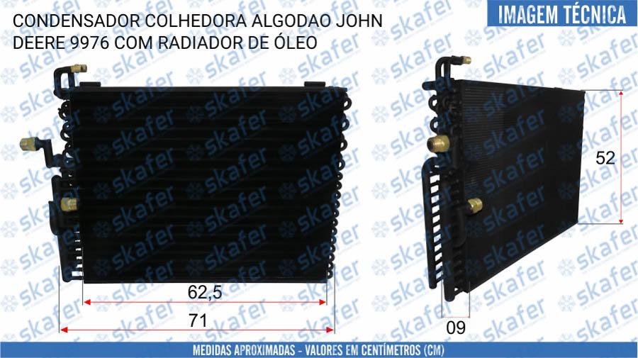 imagem de CONDENSADOR JOHN DEERE COLHEDORA ALGODAO 9976 AN194635 SKAFER